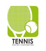 Diseño de tenis — Vector de stock