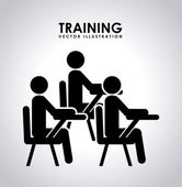 Training design  — Stock Vector