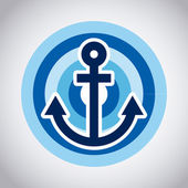 Anchor design — Stock Vector