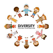 Diversity of races  — Stock Vector
