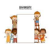 Diversity of races  — Stock Vector