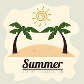 дизайн летом — Cтоковый вектор