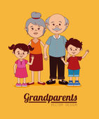 Grand parents design — Stock Vector