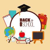 Tillbaka till skolan design — Stockvektor