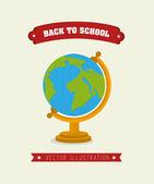 Volta para escola design — Vetorial Stock