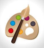 Paint design — Stock Vector