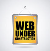 Web en construcción — Vector de stock