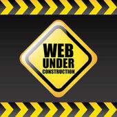 Web under construction — Stock Vector