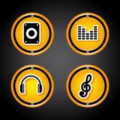 Sound design — Vector de stock