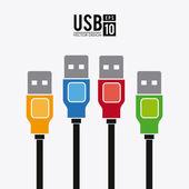 USB design  — Stock Vector