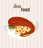 Diseño de alimentos — Vector de stock