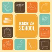 School design — 图库矢量图片
