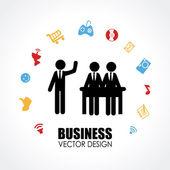 ビジネス設計 — ストックベクタ