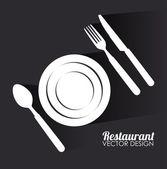 Restaurantdesign — Stockvektor