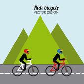 Projeto da bicicleta — Vetorial Stock