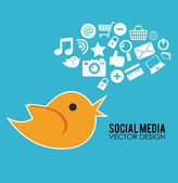 Social media design — Stock Vector