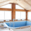Pool house — Stock Photo