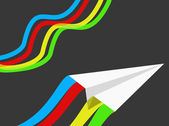 Paper airplane — Vetorial Stock