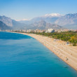Stock Photo: People at Konyaalti beach in Antalya, Turkey