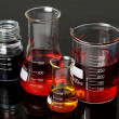 Laboratory Flasks Glassware — Stock Photo