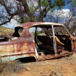 Deserted and Rusted Auto Wreck — Stock Photo
