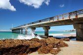 Summer Beach and Pier — Stock Photo