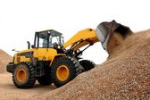 Bulldozer Working with Stone — Stock Photo