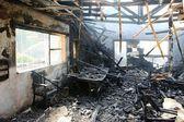 Interior of Burnt Home — Stock Photo