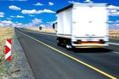 Trucker Vehicle on Road — Stock Photo