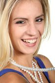 Gorgeous Woman with Pearls — Stock Photo