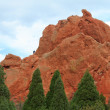 Rock climber in Garden of Gods - Foto Stock