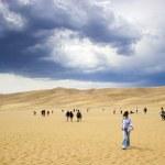 Walking in sand dunes — Stock Photo #13906056