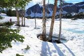 таяния снега в горах — Стоковое фото