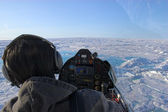 Flying over Arctic — Stock Photo