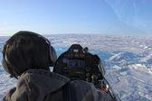 Volando sobre el ártico — Foto de Stock