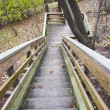 Wooden walkway - Stock Photo