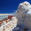 Piles of snow and a train — Stock Photo #14086720