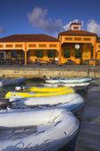 Barcos perto da costa — Foto Stock
