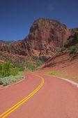 Red road upward — Stock Photo