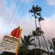 Kamehamehsign on road — Stock Photo #14376307