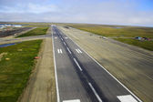 Aerial photos of landing strip of the airport — Stock Photo