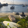 Stock Photo: Boats on shore