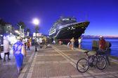 Tourist promenade in the evening — Stock Photo