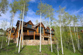 Mountain resort house — Stock Photo