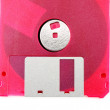 Pink diskette — Stock Photo
