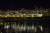 Cruise ship at night — Stock Photo