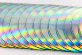 Stack of compact disks — Stock Photo