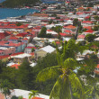 View of island town — Stock Photo