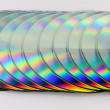 Stock Photo: Stack of compact disks