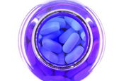 Pills in a bottle — Stock Photo